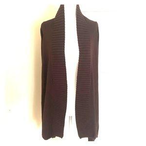 BCBG Cardi-wrap sweater
